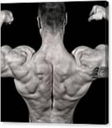 Bodybuilder Posing Canvas Print