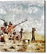 Bofors, Desert War, Wwii Canvas Print