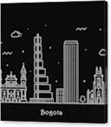 Bogota Skyline Travel Poster Canvas Print