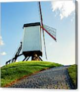Bonne Chiere Windmill Bruges Belgium Canvas Print