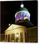 Bonsecours Market At Night In Old Montreal Canvas Print