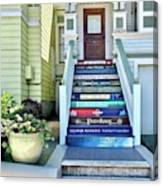 Book Stairs House Canvas Print