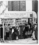 Bookmobile, 1950s Canvas Print