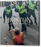 Boston Bombing Sports Illustrated Cover Canvas Print
