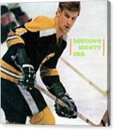 Boston Bruins Bobby Orr, 1970 Nhl Eastern Division Sports Illustrated Cover Canvas Print