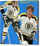 Boston Bruins Phil Esposito And Bobby Orr, 1972 Nhl Sports Illustrated Cover Canvas Print