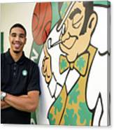 Boston Celtics Introduce Jayson Tatum Canvas Print
