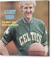 Boston Celtics Larry Bird, 1981 Nba Preview Sports Illustrated Cover Canvas Print