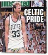 Boston Celtics Larry Bird, 1987 Nba Eastern Conference Sports Illustrated Cover Canvas Print