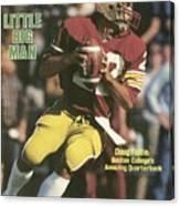Boston College Qb Doug Flutie... Sports Illustrated Cover Canvas Print