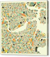 Boston Map 1 Canvas Print