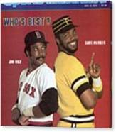 Boston Red Sox Jim Rice And Pittsburgh Pirates Dave Parker Sports Illustrated Cover Canvas Print