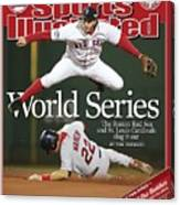 Boston Red Sox Mark Bellhorn, 2004 World Series Sports Illustrated Cover Canvas Print