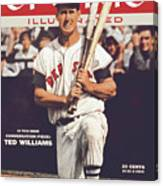 Boston Red Sox Ted Williams... Sports Illustrated Cover Canvas Print