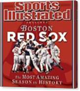 Boston Red Sox Vs St. Louis Cardinals, 2004 World Series Sports Illustrated Cover Canvas Print