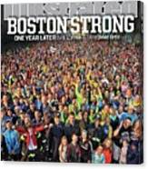 Boston Strong One Year Later Sports Illustrated Cover Canvas Print