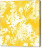 Botanical Silhouette Pattern Seamless Canvas Print