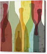 Bottles Of Wine, Whiskey, Tequila Canvas Print