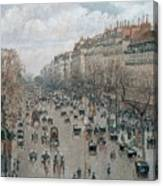 Boulevard Montmartre - Afternoon, Sunlight, 1897 Canvas Print