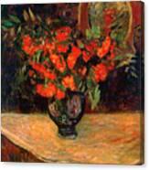 Bouquet, 1884. Artist Paul Gauguin Canvas Print