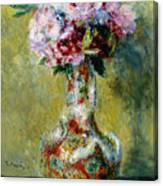 Bouquet In A Vase, 1878 Canvas Print