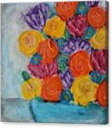 Bouquet In Blue Canvas Print