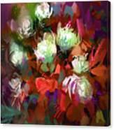 Bouquet Of Colorful Flowers,digital Canvas Print