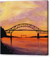 Bourne Bridge Sunset Canvas Print