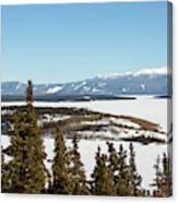Bove Island On Windy Arm In Tagish Lake Yukon Canvas Print