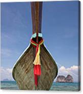 Bow Of A Long-tailed Boat, Thailand Canvas Print