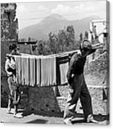 Boys Working In Pasta Factory Carry Canvas Print