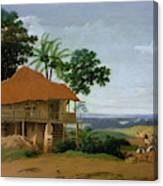 Brazilian Landscape With A Worker   S House  Canvas Print