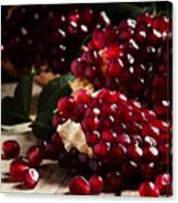 Break Azerbaijan Pomegranate On An Old Canvas Print