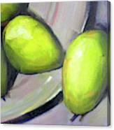 Breakfast Pears Canvas Print