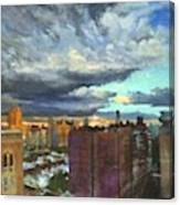 Breaking Clouds At Sunset Canvas Print