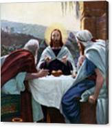 Breaking Of Bread At Emmaus, 1926 Canvas Print
