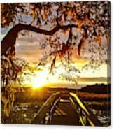 Breaking Sunset Canvas Print