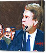 Brett Kavanaugh Testifies Before Senate Canvas Print