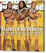 Brian Cushing, Rey Maualuga, And Clay Matthews, 2009 Nfl Sports Illustrated Cover Canvas Print