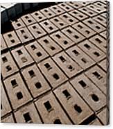 Bricks Of Mud To Be Dried Canvas Print