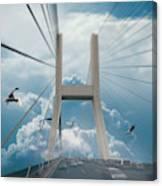 Bridge In The Clouds Canvas Print