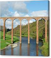 bridge over river Tweed near Melrose towards Gattonside Canvas Print