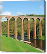 bridge over river Tweed near Melrose Canvas Print