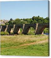 bridge over river Tyne at Corbridge in summer Canvas Print