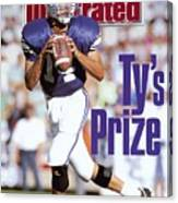 Brigham Young University Qb Ty Detmer Sports Illustrated Cover Canvas Print
