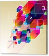 Bright Abstract Background Canvas Print
