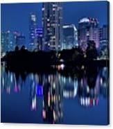 Bright Blue Hour In Austin Canvas Print