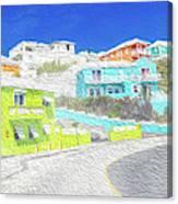 Bright Parish Life Bermuda Canvas Print