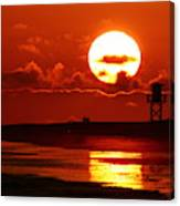 Bright Rota, Spain Sunset Canvas Print