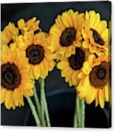 Bright Yellow Sunflowers Canvas Print